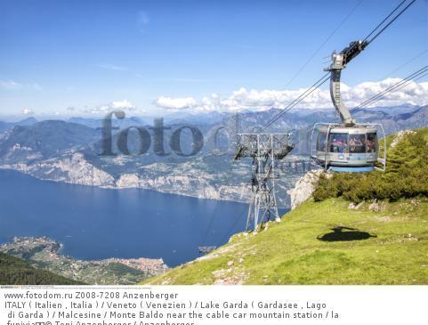 ITALY ( Italien , Italia ) / Veneto ( Venezien ) / Lake Garda ( Gardasee , Lago di Garda ) / Malcesine / Monte Baldo near the cable car mountain station / la funivia  © Toni Anzenberger / Anzenberger