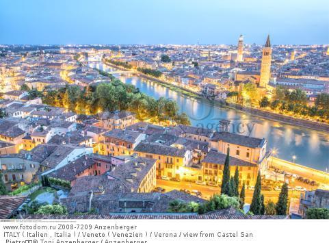 ITALY ( Italien , Italia ) / Veneto ( Venezien ) / Verona / view from Castel San Pietro  © Toni Anzenberger / Anzenberger
