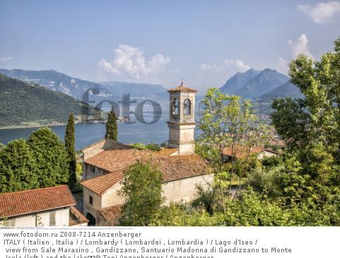 ITALY ( Italien , Italia ) / Lombardy ( Lombardei , Lombardia ) / Lago d'Iseo / view from Sale Marasino , Gandizzano, Santuario Madonna di Gandizzano to Monte Isola (left ) and the lake  © Toni Anzenberger / Anzenberger
