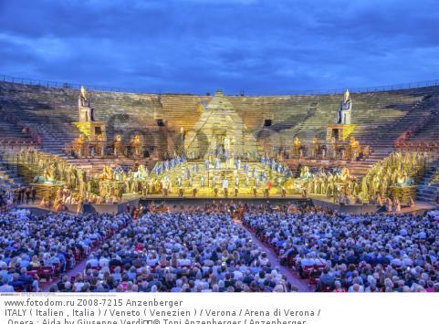 ITALY ( Italien , Italia ) / Veneto ( Venezien ) / Verona / Arena di Verona / Opera : Aida by Giuseppe Verdi  © Toni Anzenberger / Anzenberger