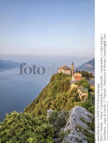 ITALY ( Italien , Italia ) / Lombardy ( Lombardei , Lombardia ) / Lake Garda ( Gardasee , Lago di Garda ) /  Tignale , Madonna di Monte Castello  © Toni Anzenberger / Anzenberger