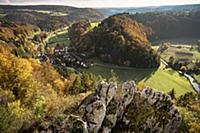 View from the castle ruin Hohengundelfingen, UNESC