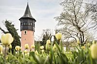 Sweden Tower at flower island Mainau, Konstanz, La