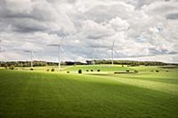 Wind wheel close to Bartholomae, Ostalb District,