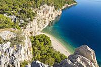 Elevated view over Nugal Beach near Makarska, Croa