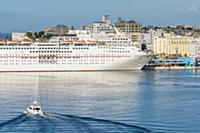 Cruise ship, Port, Old Town, San Juan, Puerto Rico