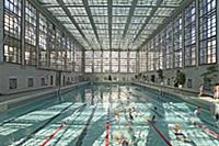 Stadtbad Berlin-Mitte, city baths built in Bauhaus