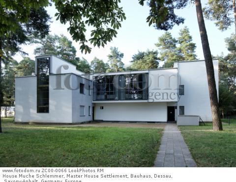 House Muche Schlemmer, Master House Settlement, Bauhaus, Dessau, Saxony-Anhalt, Germany, Europe  Для коммерческого использования может требоваться очистка прав. Необходимо уточнение.