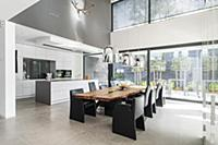 kitchen of a modern architecture house in the Bauh