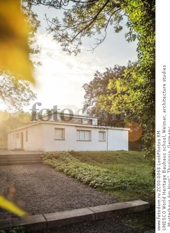 """UNESCO World Heritage Bauhaus school, Weimar, architecture studies """"Musterhaus Am Horn"""", Thuringia, Germany  Для коммерческого использования может требоваться очистка прав. Необходимо уточнение."""