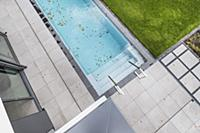 outdoor pool at a modern architecture house in the
