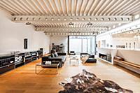 Living room inside a Bauhaus villa, Sauerland, Ger