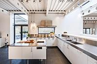 Open plan kitchen inside a Bauhaus villa, Sauerlan