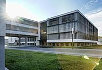 View of the Bauhaus, Dessau, Saxony-Anhalt, German