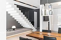 staircase of a modern architecture house in the Ba