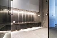 rain shower at the bathroom of a modern architectu