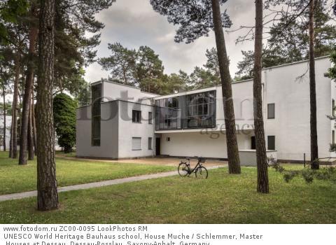UNESCO World Heritage Bauhaus school, House Muche / Schlemmer, Master Houses at Dessau, Dessau-Rosslau, Saxony-Anhalt, Germany  Для коммерческого использования может требоваться очистка прав. Необходимо уточнение.