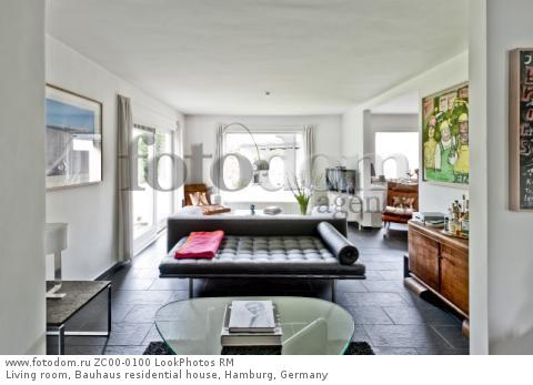 Living room, Bauhaus residential house, Hamburg, Germany  Для коммерческого использования может требоваться очистка прав. Необходимо уточнение.