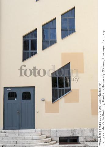 Henry van de Velde Building, Bauhaus University, Weimar, Thuringia, Germany  Для коммерческого использования может требоваться очистка прав. Необходимо уточнение.