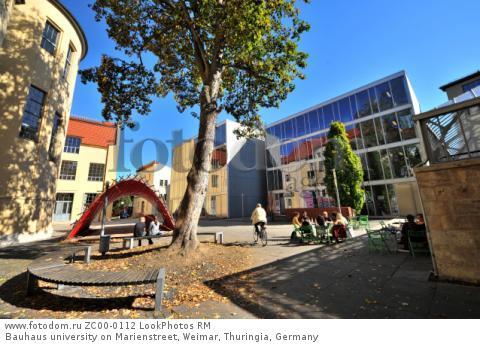 Bauhaus university on Marienstreet, Weimar, Thuringia, Germany  Для коммерческого использования может требоваться очистка прав. Необходимо уточнение.