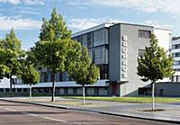 View of the Bauhaus, Dessau, Saxony-Anhalt, German