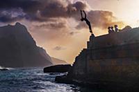 Cape Verde, Island Santo Antao, landscapes, mounta