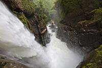The 80m high waterfall Pailуn del Diablo (Devil