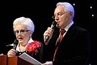 Анна Шатилова и Евгений Кочергин на вручении преми