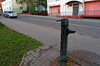 Полоцк. Жилые кварталы города. Водяная колонка.