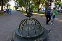Полоцк. Памятный знак 'Полоцк-географический центр