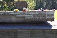 'Хатынь'. Цветы на мемориале.