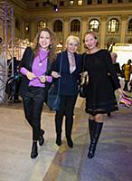 Алина Асси (в центре). Открытие Moscow Fashion Wee