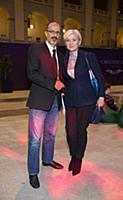 Алина Асси с супругом. Открытие Moscow Fashion Wee