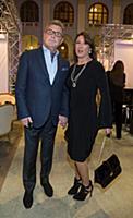 Лев Лещенко с супругой Ириной. Открытие Moscow Fas