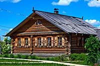 Traditional russian house (izba).