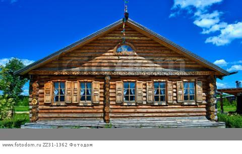 Krasnodar, RUSSIA - July 19, 2015: Traditional russian house (izba).