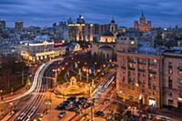 Фотографии ночной Москвы