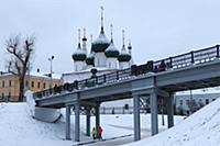 Вид на церковь Николы-Рубленый город. Россия, Ярос