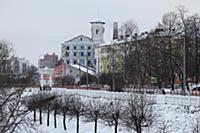 Набережная Которосли. Россия, Ярославль. 3-4 январ