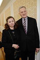 Миколас Орбакас с супругой. Юбилейный концерт Крис