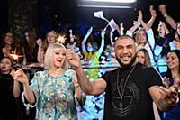 Натали, MC Doni. Съемки новогоднего концерта «Танц