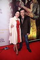 Любовь Тихомирова с супругом. Премьера фильма 'По
