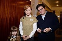 Марианна Максимовская с дочерью и супругом. Премье