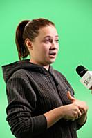 Ника Сафонова. Съемки клипа Джигана и Jah Khalib н