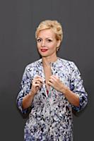 Телеведущая Ирина Сашина
