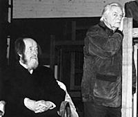 Александр Солженицын, Юрий Любимов.