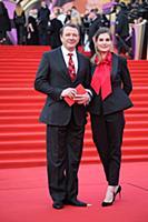 Марат Башаров с супругой. Церемония открытия 40-го
