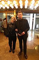 Андрей Мерзликин с супругой. Премьера фильма Конст