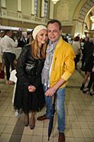 Владимир Левкин с супругой. Открытие выставки Алек