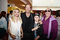 Маша Цигаль, Марюс Вайсберг, Евгений Герчаков с сы